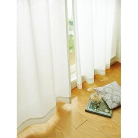 防炎・遮熱UVカットミラーレースカーテン(オーナメント柄) - セシール ■カラー:ホワイト ■サイズ:幅100×丈133(2枚組),幅100×丈176(2枚組),幅100×丈198(2枚組)