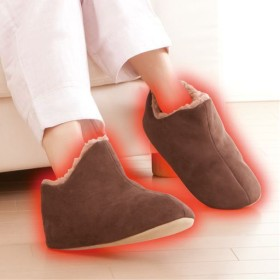 【レディース】 極暖 足が包まれるスリッパ - セシール ■サイズ:M(23.0-25.0cm),L(25.0-27.0cm)