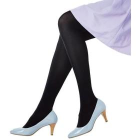 【レディース】 程よい厚みの90デニール黒タイツ 3足セット - セシール ■カラー:ブラック ■サイズ:L-LL, JM-L,M-L