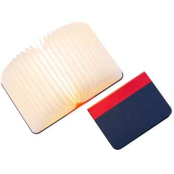 Lumiosf Fabric ブックランプ レッド/ネイビー