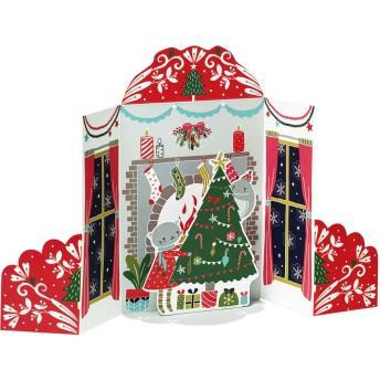 MoMA クリスマスカード 暖炉