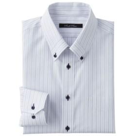 30%OFF【メンズ】 形態安定デザインYシャツ(ゆったりシルエット)(長袖) ■カラー:ブルー系 ■サイズ:50(裄丈88)