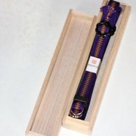組紐ネックストラップ(カメラ用) 加賀錦紫安良筋(約4分幅、5尺長) SK-1504712