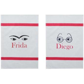 フリーダとディエゴ ティータオル(2枚セット)