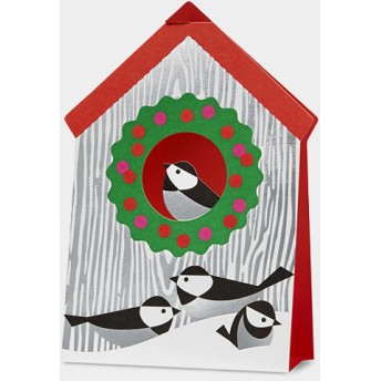 MoMA クリスマスカード バードハウス