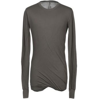 《期間限定セール開催中!》RICK OWENS メンズ T シャツ ダークグリーン S コットン 100%