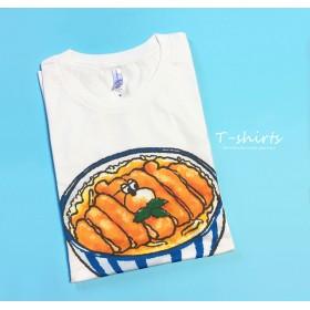ぶちゃくま。カツ丼Tシャツ