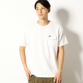 [マルイ]【セール】胸ポケット付き スエット半袖Tシャツ/パープル&イエロー(Purple & Yellow)
