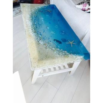 センターテーブル ブルームーンビーチ 珊瑚のラグーン