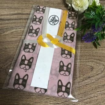 再販! ︎ フレンチブルドッグ ピンク 手ぬぐい 祝儀袋 ︎