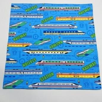 ランチョンマット 小さめ[30×30]新幹線柄 (水色)