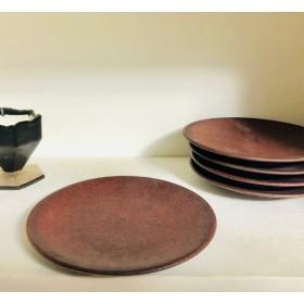 14cmディッシュ皿(赤溶岩)