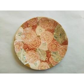八重桜 皿 オーブン陶芸