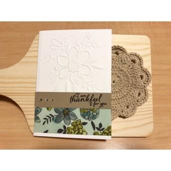 寄付カード*「感謝の花束」手作りメッセージカード