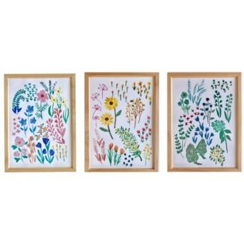 【柄三種】私のお花畑 インテリアポスター
