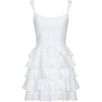 《期間限定セール開催中!》GUESS レディース ミニワンピース&ドレス ホワイト M コットン 100%