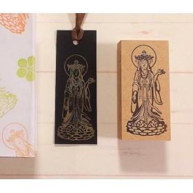 仏像のハンコ 吉祥天 御朱印帳や手帳、ノートに最適なサイズのハンコ