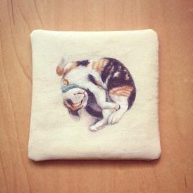 三毛猫コースター