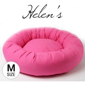 【受注制作】 シンプルペットベッド ショッキングピンク色 Mサイズ