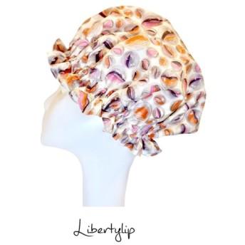 リバティー 〜 魔 法 の 帽 子 〜 洗える!国産綾織シルクのナイトキャップ・被るだけで叶うツヤ髪【 リバティーリップ 】