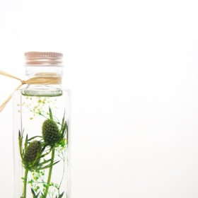 幻想的な枯れないお花:ハーバリウム【グリーン big】