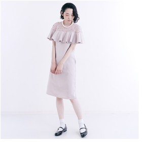 [マルイ] デコルテレース切り替えワンピース1022-0908/メルロー(merlot)