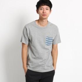[マルイ] 【WEB限定】ポケット ボーダー 半袖Tシャツ/ベース ステーション(メンズ)(BASE STATION Mens)