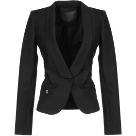 《9/20まで! 限定セール開催中》PHILIPP PLEIN レディース テーラードジャケット ブラック XS コットン 48% / ナイロン 45% / ポリウレタン 7%