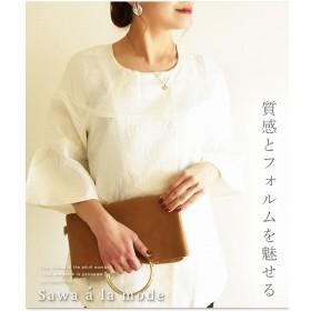 [マルイ] ふわり袖と上品魅せるトーントップス/サワアラモード(sawa a la mode)