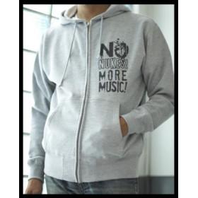 『NO NUKES MORE MUSIC』ラジカセ NO NUKES(原発反対)ジップパーカー