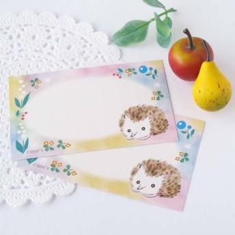 虹の谷のハリネズミ ミニ メッセージカード・10枚