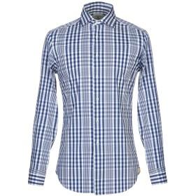 《期間限定 セール開催中》LUXURY 1939 メンズ シャツ ブルー 38 コットン 72% / ナイロン 25% / ポリウレタン 3%