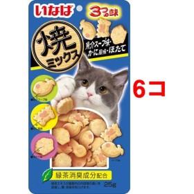 いなば 焼ミックス魚介スープ味・かに風味・ほたて (25g6コセット)
