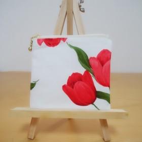 チューリップ 花柄 コインケース