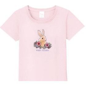 メンズ・レディース・キッズサイズ有★花とうさぎ Tシャツ
