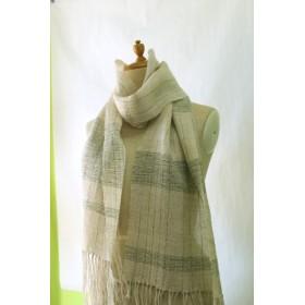 167 春夏ストール(手織り)綿麻