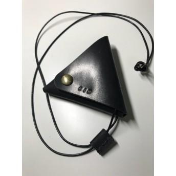 レザー三角コインケース ヌメ革 コインケース 革財布