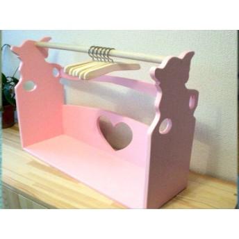 チワワちゃんハンガーラック ハンガー付 薄いピンク わんちゃん堂