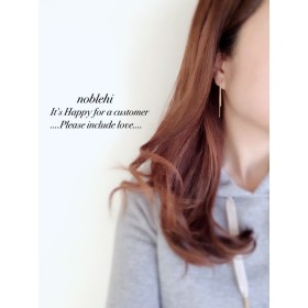 【noblehi】mini simple swing chain ピアス /ノンホールイヤリング *受注製作*O23