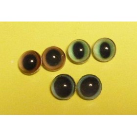 オーダーのお品○半球グラスアイ12mm○パーツつき3セット