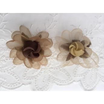 オーガンジーの造花