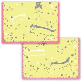星の中を駆けるねこのメッセージカード
