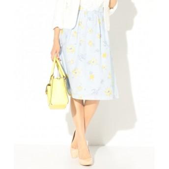 [マルイ]【セール】【洗える】アブストラクトフラワープリント スカート/エニィスィス(any SiS)
