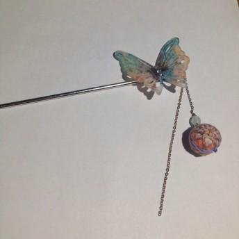 蝶と手鞠のかんざし