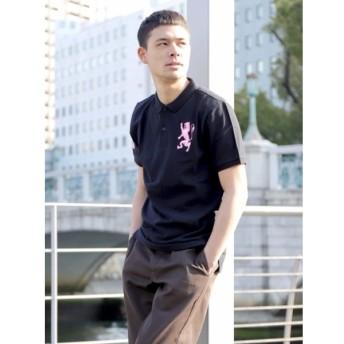 GIORDANO ジョルダーノ 3Dライオン刺繍ポロシャツ