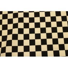 チェッカーフラッグ柄 白×黒色 ツイル布
