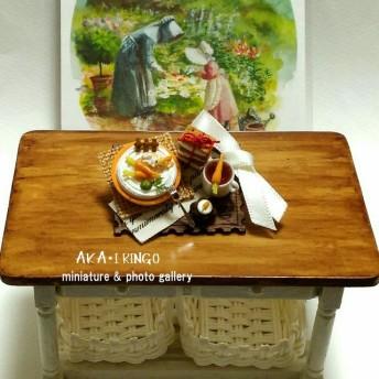 いたずらウサギのキャロットケーキ(食卓プレートシリーズ)