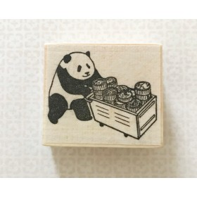 飲茶パンダ(樹脂印)