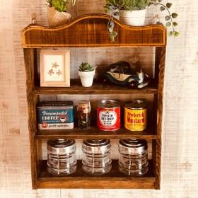 008ー4 スパイスラック かざり棚 木製ラック 小物 ディスプレイの棚
