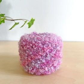素材糸≪Rb-001≫ ループヤーン 紫陽花